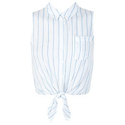 Miss Selfridge - Petite stripe tie shirt