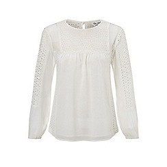 Miss Selfridge - Petites ivory crochet blouse
