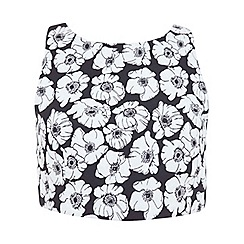 Miss Selfridge - Petites jacquard crop top