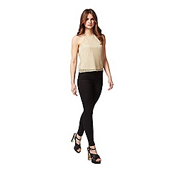 Miss Selfridge - Petites gold shimmer cami top