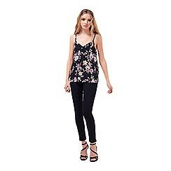 Miss Selfridge - Petites floral lace cami top