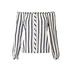 Miss Selfridge - Petites stripe bardot top