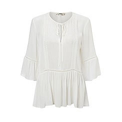 Miss Selfridge - Petites peplum smock top
