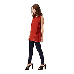 Miss Selfridge - Petites rust wrap front tunic