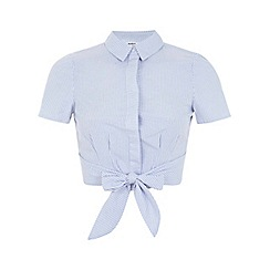 Miss Selfridge - Petites stripe tie shirt