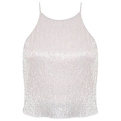 Miss Selfridge - Petites nude shimmer cami top