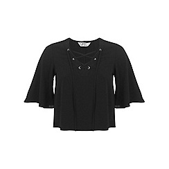 Miss Selfridge - Petites black lace up top