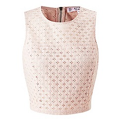 Miss Selfridge - Petites blush lace shell top
