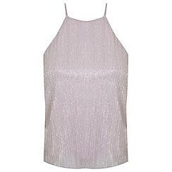 Miss Selfridge - Petites pink shimmer cami top