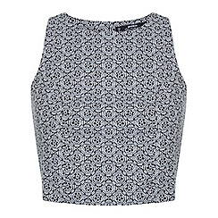 Miss Selfridge - Petites jacquard shell top