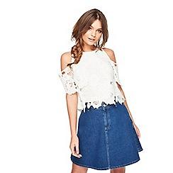Miss Selfridge - Petite cold shoulder blouse