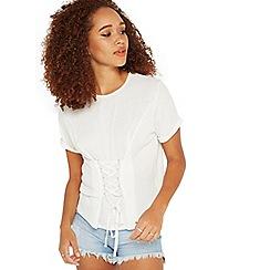 Miss Selfridge - Petite corset t-shirt