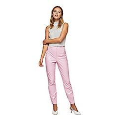 Miss Selfridge - Pink vinyl steffi trousers