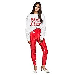 Miss Selfridge - Red vinyl steffi trousers