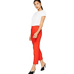 Miss Selfridge - Red cigarette trousers