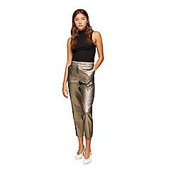 Miss Selfridge - Metallic cigarette trousers
