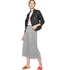 Miss Selfridge - White spot plisse trousers