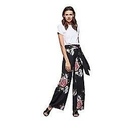 Miss Selfridge - Bloom print wide leg trousers