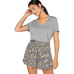 Miss Selfridge - Ging floral flippy shirt