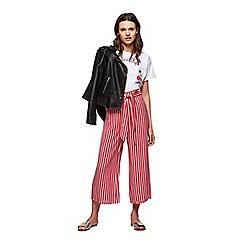 Miss Selfridge - Red stripe wide leg trousers