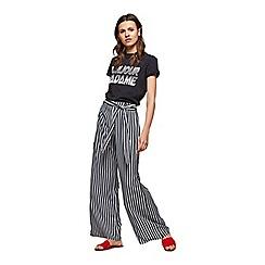 Miss Selfridge - Black stripe wide leg trousers