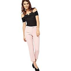 Miss Selfridge - Pink crepe cigarette trousers