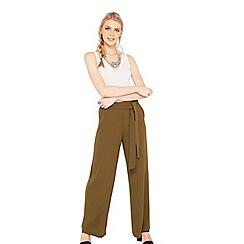 Miss Selfridge - Khaki tie waist trousers