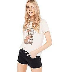Miss Selfridge - Black daisy epp shorts