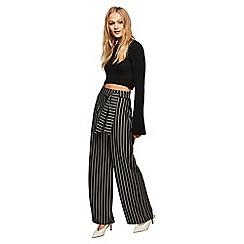 Miss Selfridge - Stripe wide leg tie trousers
