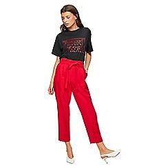 Miss Selfridge - Red paper bag trousers