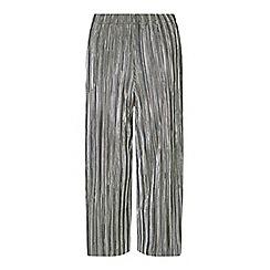 Miss Selfridge - Silver plisse trousers
