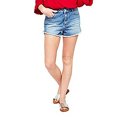 Miss Selfridge - Split hem mom shorts