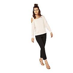 Miss Selfridge - Black crepe cigarette trousers