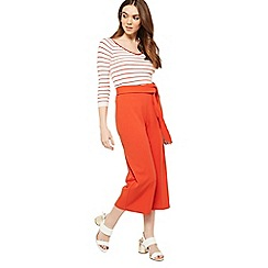 Miss Selfridge - Orange tie crop trousers