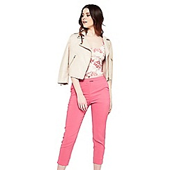 Miss Selfridge - Bright pink cigarette trousers