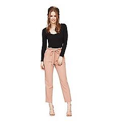 Miss Selfridge - Blush paper bag trousers