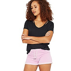 Miss Selfridge - Lilac burnout jersey shorts