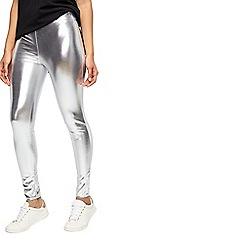 Miss Selfridge - Slv metalic leggings