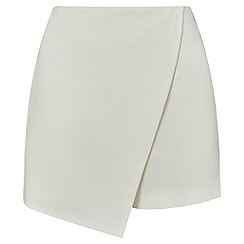 Miss Selfridge - Ivory wrap skort