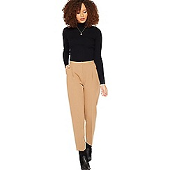 Miss Selfridge - Camel peg leg trousers