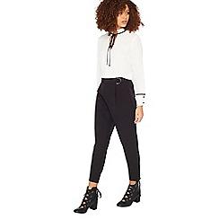 Miss Selfridge - Black d ring trousers