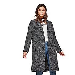 Miss Selfridge - Black long coatigan