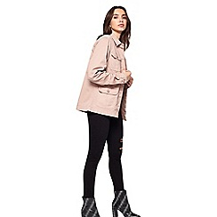 Miss Selfridge - Pink utility jacket