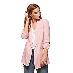 Miss Selfridge - Pink ruched sleeves blazer