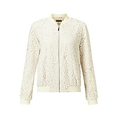 Miss Selfridge - Ivory lace bomber