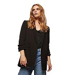 Miss Selfridge - Ruched sleeve blazer black