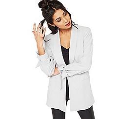 Miss Selfridge - Grey bow sleeve blazer