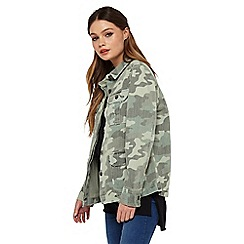 Miss Selfridge - Army camo shacket