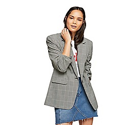 Miss Selfridge - Oversized check blazer