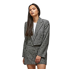 Miss Selfridge - Star check cropped blazer